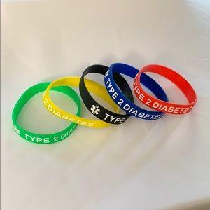 Medical Alert Type 2 Diabetes Bracelets - New